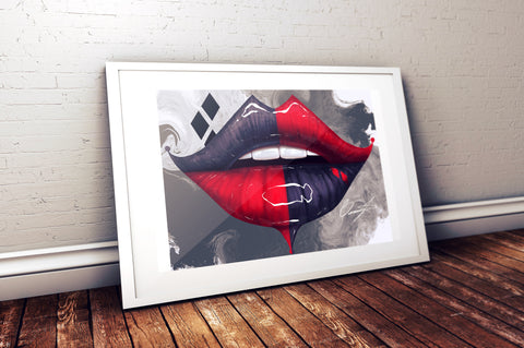 Harley Quinn Lips Print - Giovannie's Originals