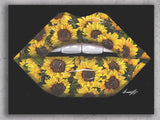 """Sunflower"" Canvas Lips Print - Giovannie's Originals"