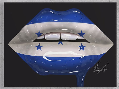 Honduras Lips Canvas Print - Giovannie's Originals