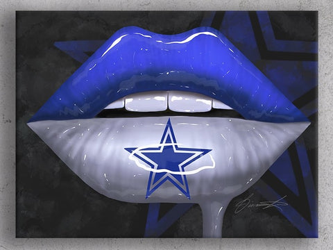 Dallas Cowboys Lips Canvas Print - Giovannie's Originals