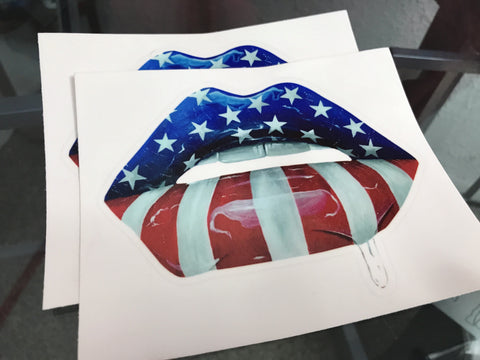 U.S.A Flag Lips Stickers - Giovannie's Originals