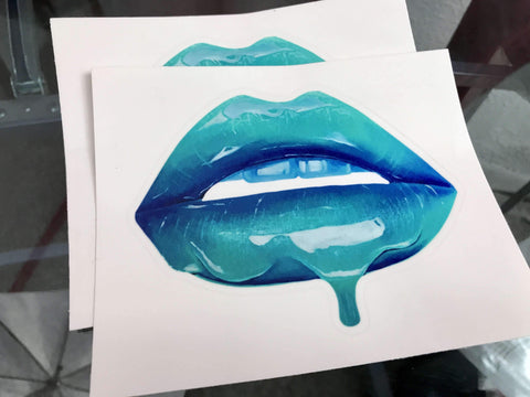 Blue Lips Stickers - Giovannie's Originals