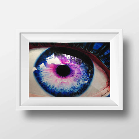 Colorful Eye Drawing Print, Prints - Giovannie's Originals