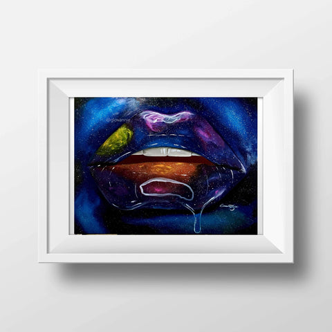 Galaxy Colorful Lips Print - Giovannie's Originals