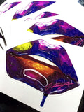Galaxy Lips Stickers, Stickers - Giovannie's Originals