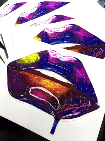 Galaxy Lips Stickers - Giovannie's Originals