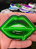 Green Neon Lips Stickers - Giovannie's Originals