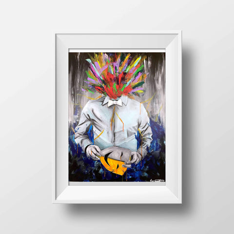 """Masked"" Print, Prints - Giovannie's Originals"