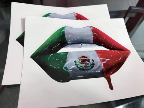Mexican Flag Lips Stickers - Giovannie's Originals