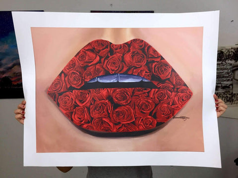 Rose Lips Limited Edition Prints - Giovannie's Originals