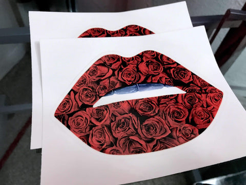 Rose Lips Stickers - Giovannie's Originals