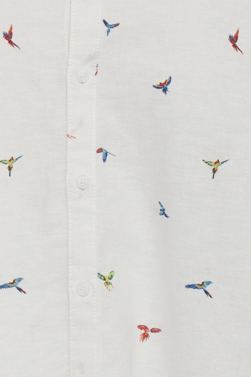 Long Sleeve Sport Shirt - Parrot Print