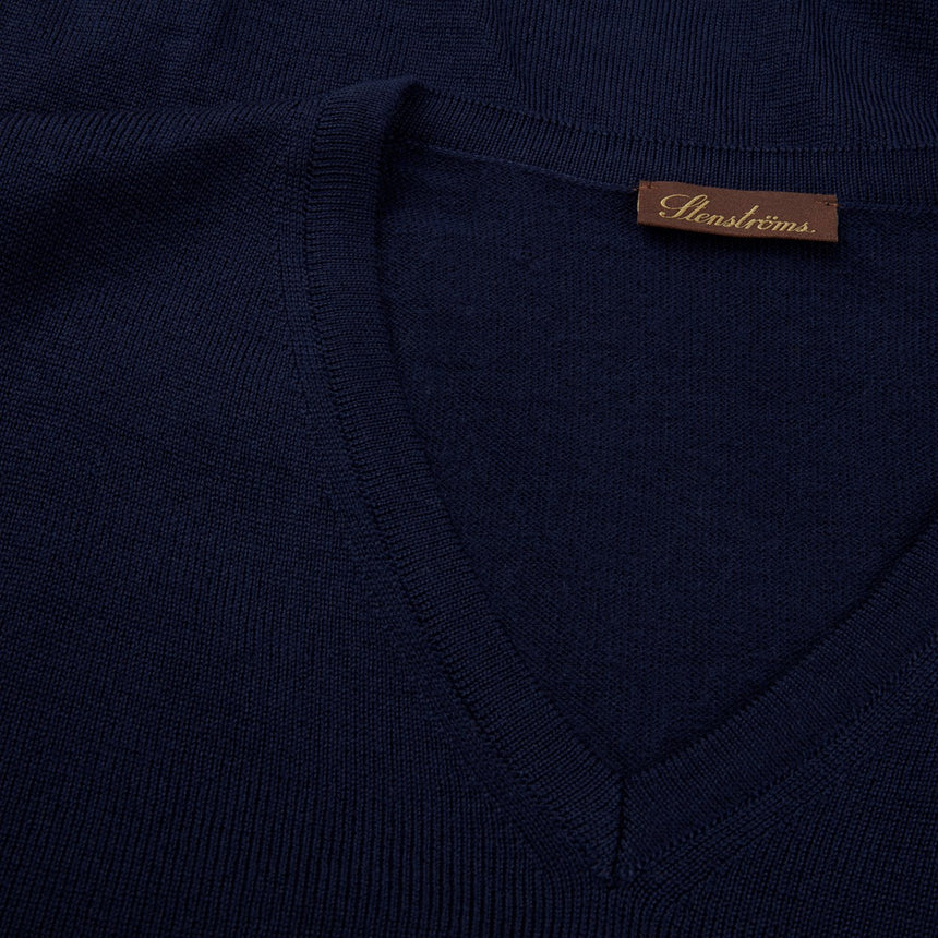 Stenströms V-Neck Sweater - Navy