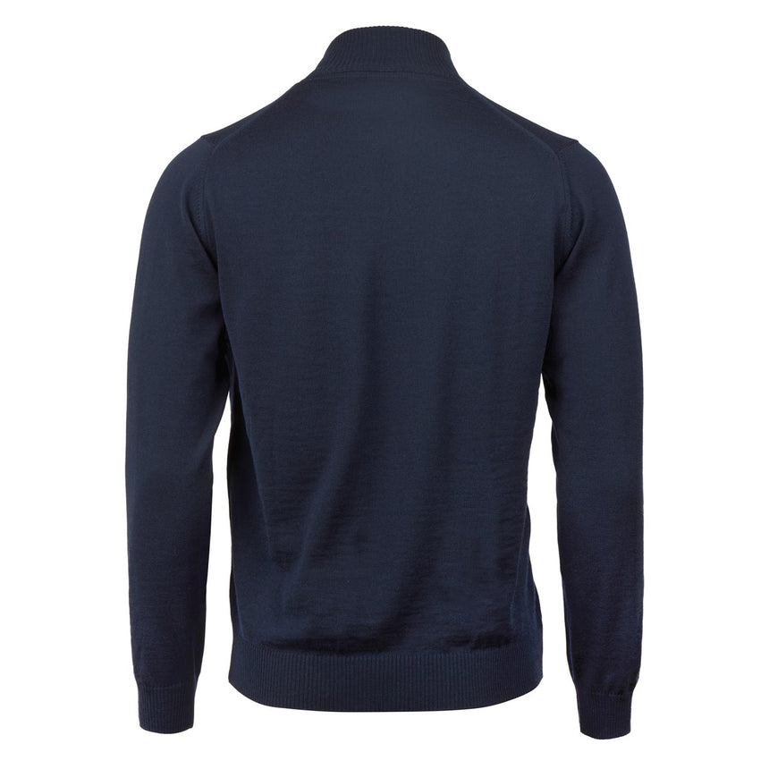 Stenströms Full Zip Cardigan - Navy