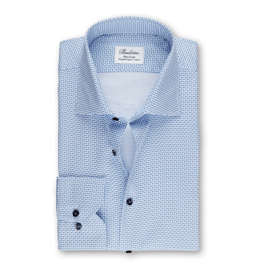 Stenströms Long Sleeve Hybrid Dress Shirt Print