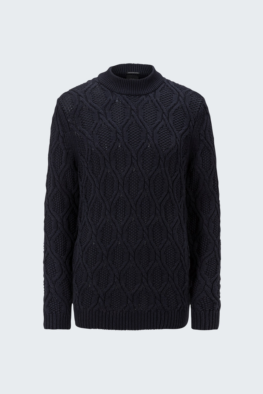 Strellson AdrianR Cable Knit Sweater - Navy