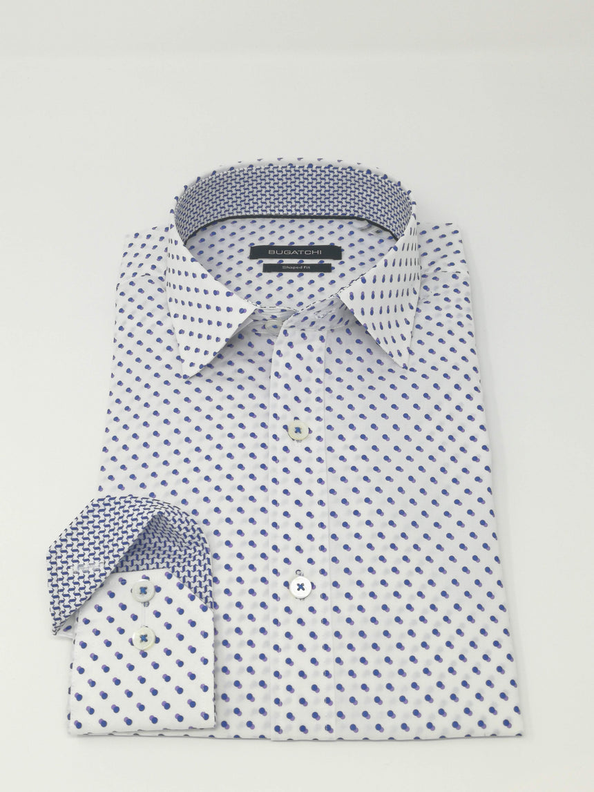 Bugatchi Long Sleeve Sport Shirt - Dot Print