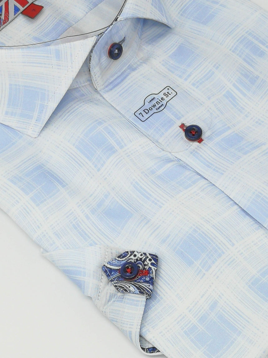 7 Downie St. Short Sleeve Sport Shirt - Print