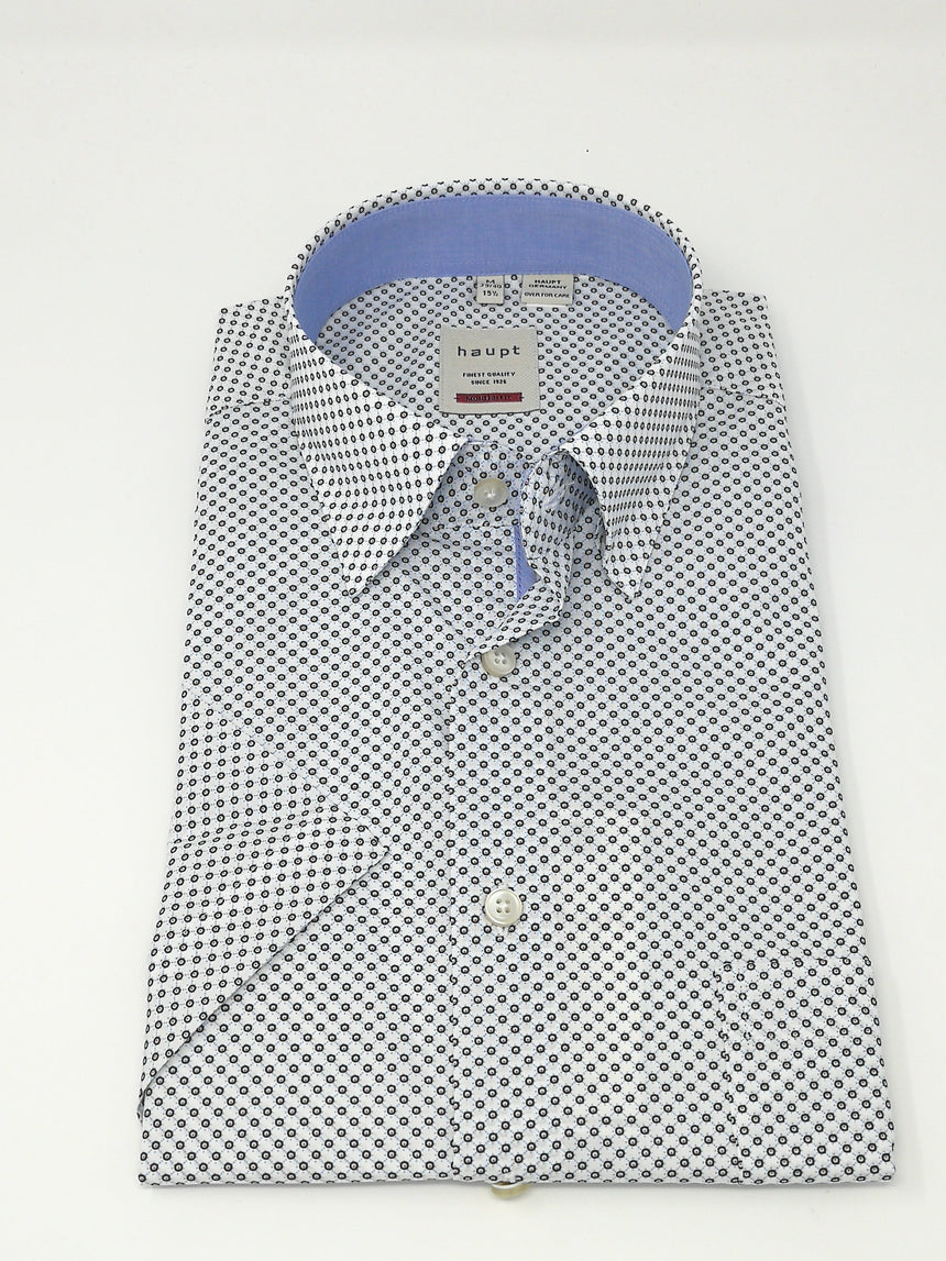 Haupt Short Sleeve Sport Shirt - Dot Print