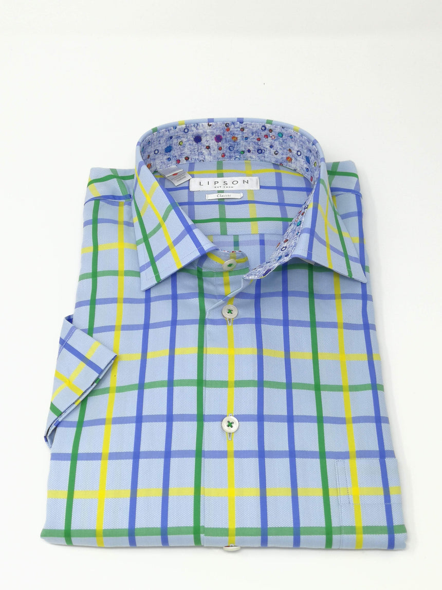 Lipson Short Sleeve Sport Shirt - Check