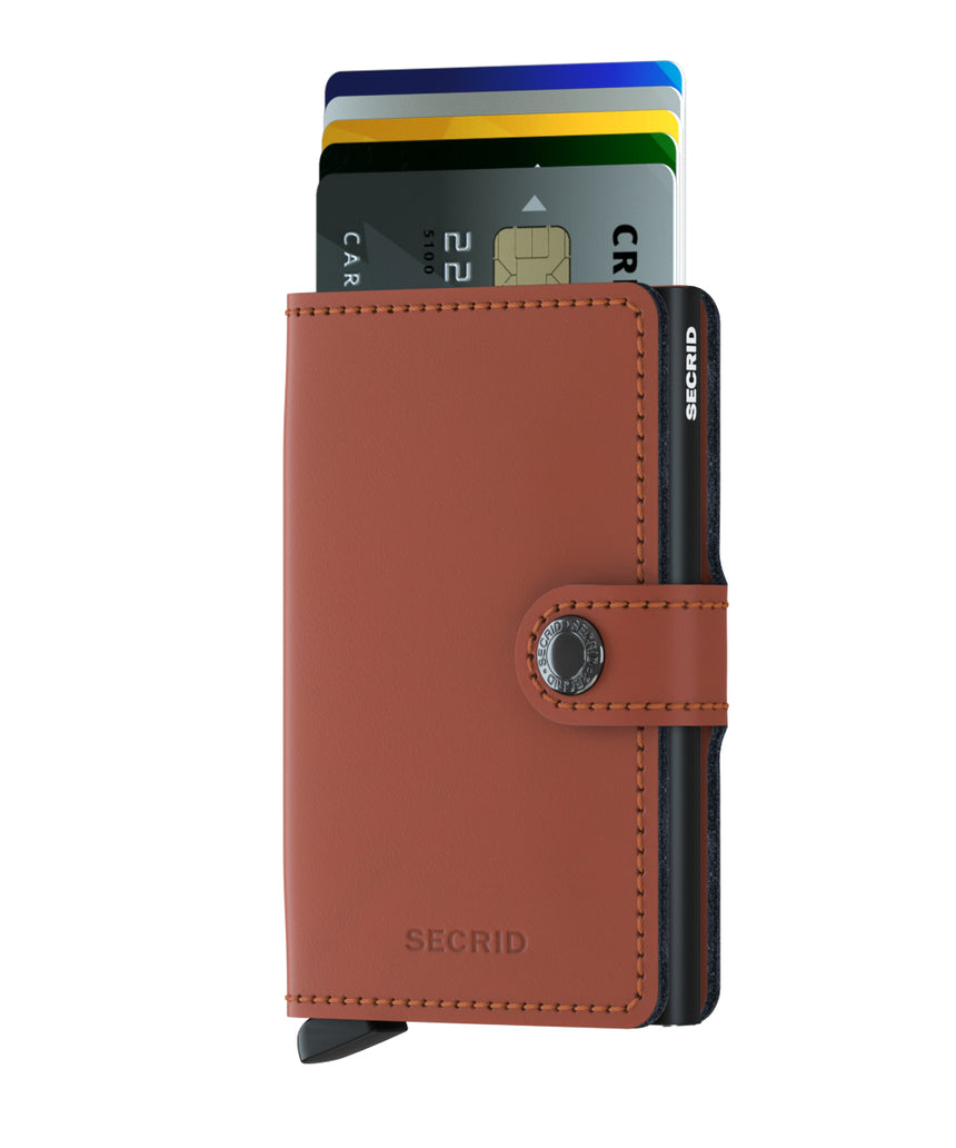 Secrid Mini Wallet Matte Brick - Black Cardslide