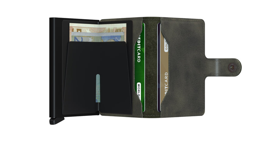 Secrid Mini Wallet Vintage Olive - Black Cardslide