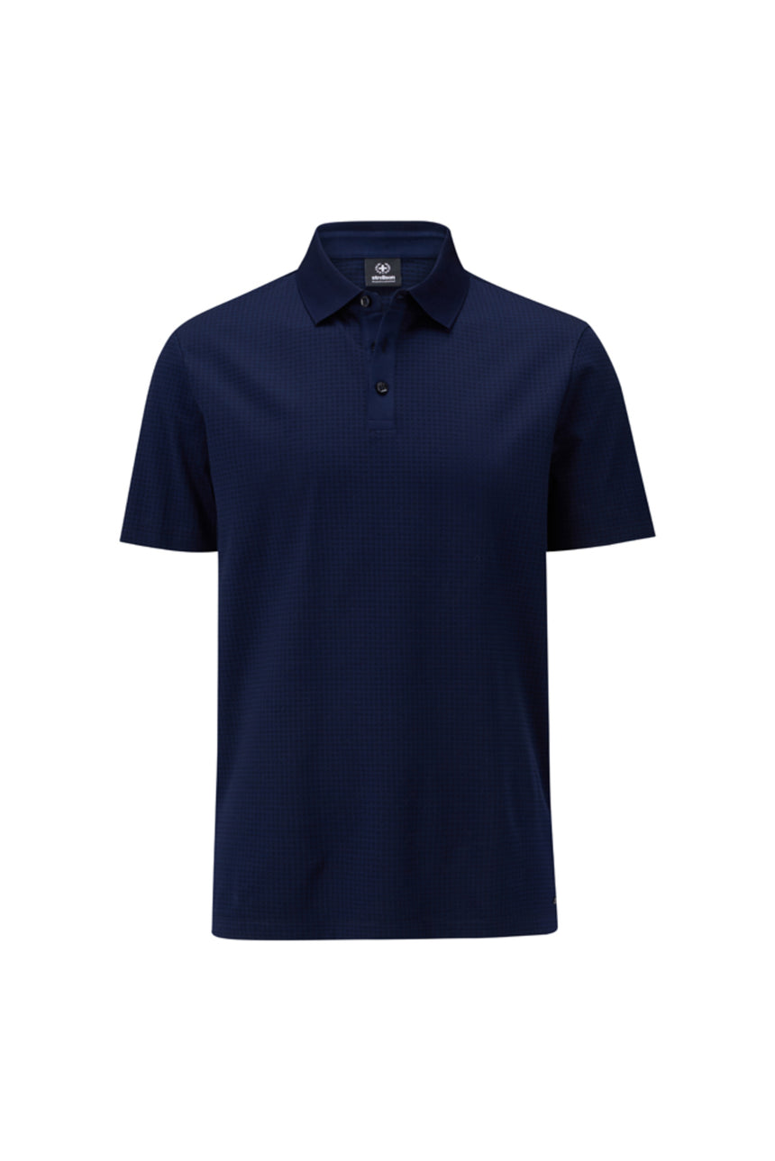 Strellson Short Sleeve Polo - Navy Tonal Check