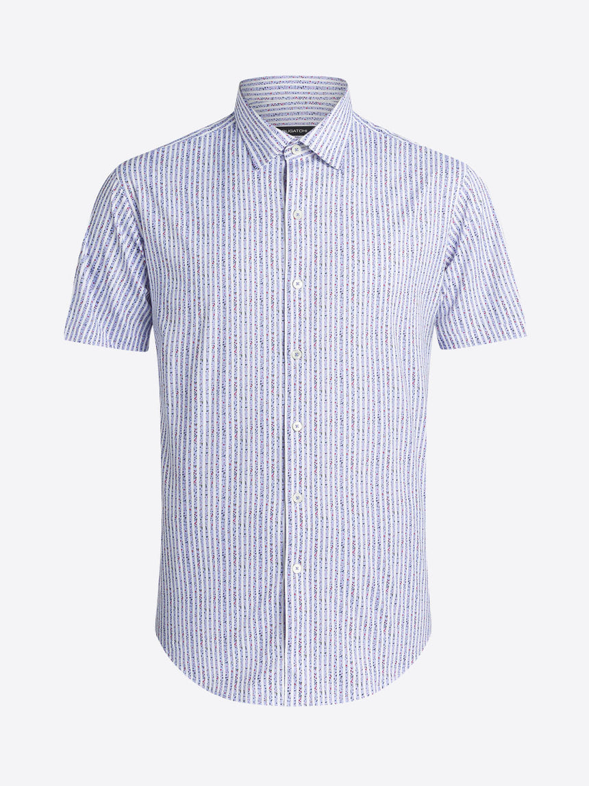 Bugatchi Short Sleeve Shirt - Stripe