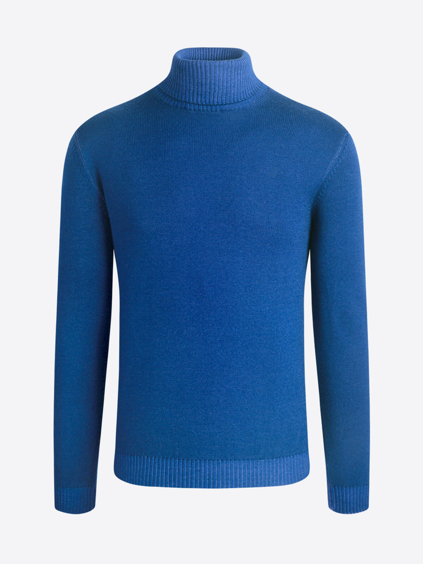 Bugatchi Turtle Neck Sweater - Blue