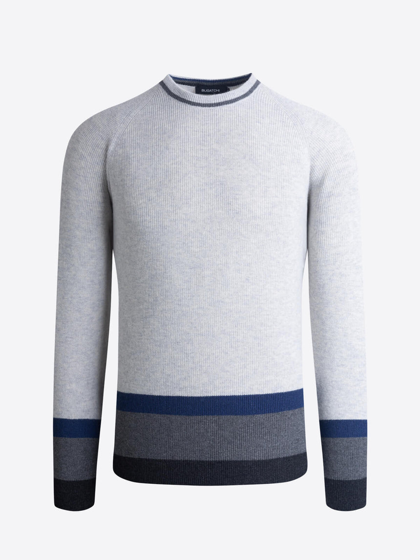 Bugatchi Crew Neck Sweater - Oyster