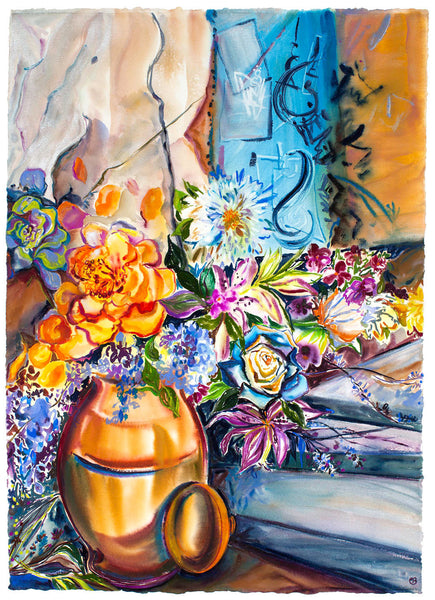 "Original Flowers & Graffitti 29.5"" x 41.5"""