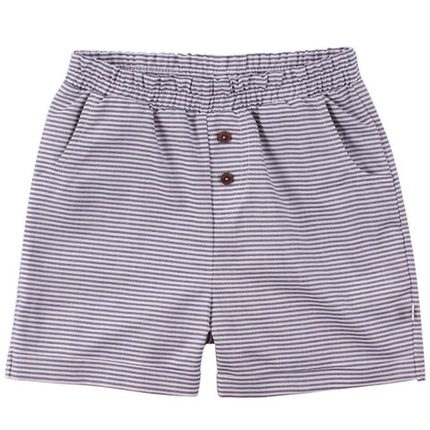 Musli - Woven Stripe Shorts - White/Blue Stripe