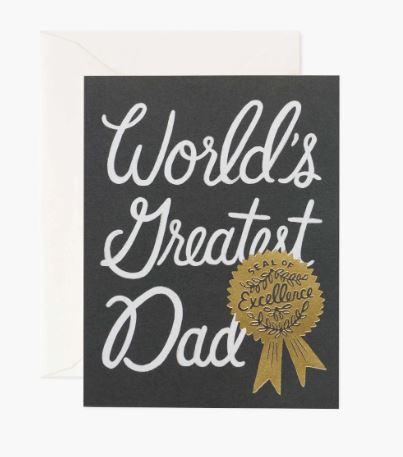Rifle Paper Co. - World's Greatest Dad Card