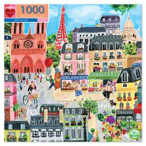 eeBoo - Paris In A Day Puzzle - 1000 Piece