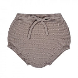 Cotton Knit Sweater Bloomers - Praline