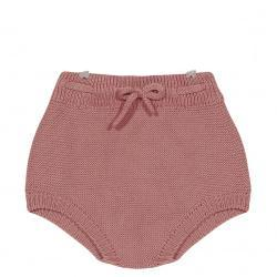 Cotton Knit Sweater Bloomers - Terra Cotta