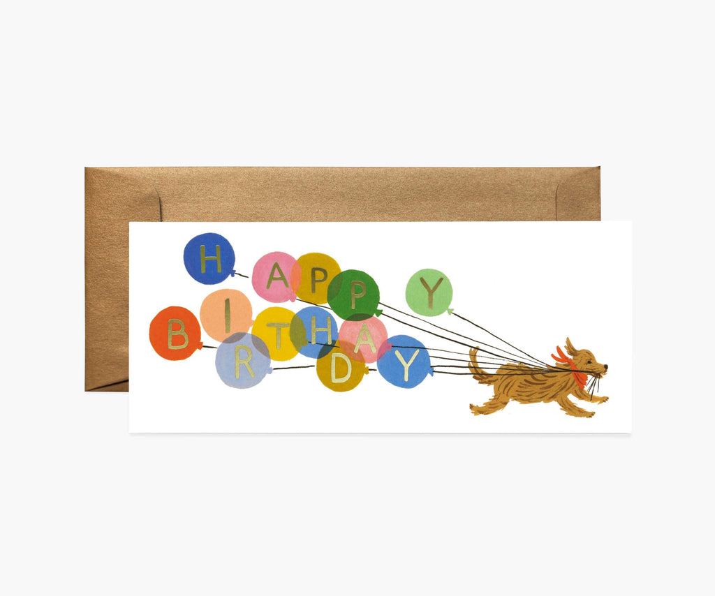 Rifle Paper Co. - Birthday Balloon No. 10 Card