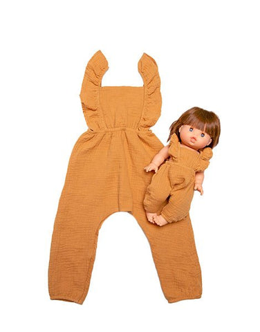Minikane - Duo Collection - Maya Jumpsuit - Gauze Camel