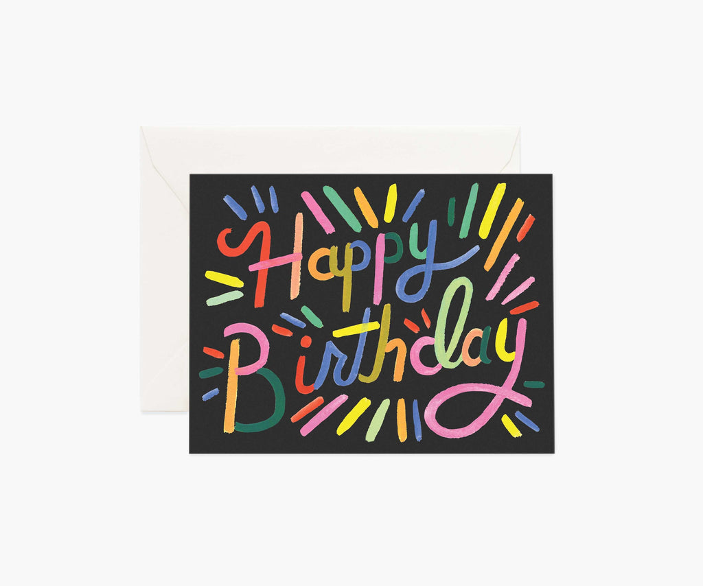 Rifle Paper Co. - Fireworks Birthday Card