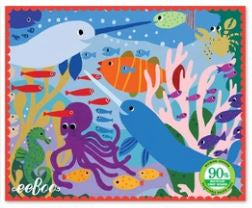 eeBoo - Miniature Puzzle - Narwhal and Friends - 36 Piece