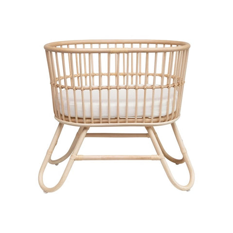 Rattan Doll Bassinet With Cushion - Perfect for Minikane
