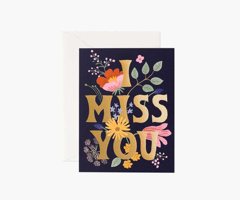 Rifle Paper Co - I Miss You Card