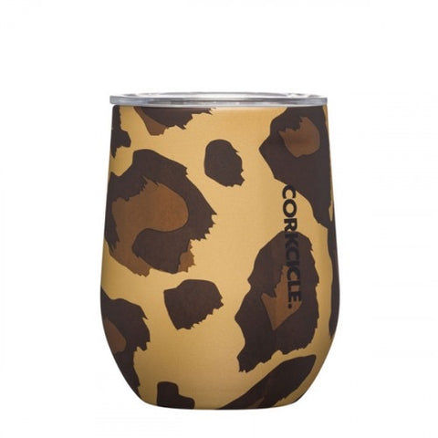 Corkcicle - 12 oz Stemless - Luxe Leopard