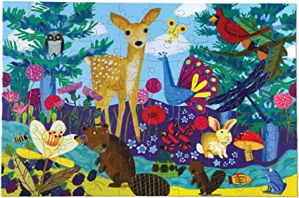 eeBoo - Life on Earth Puzzle - 100 Piece