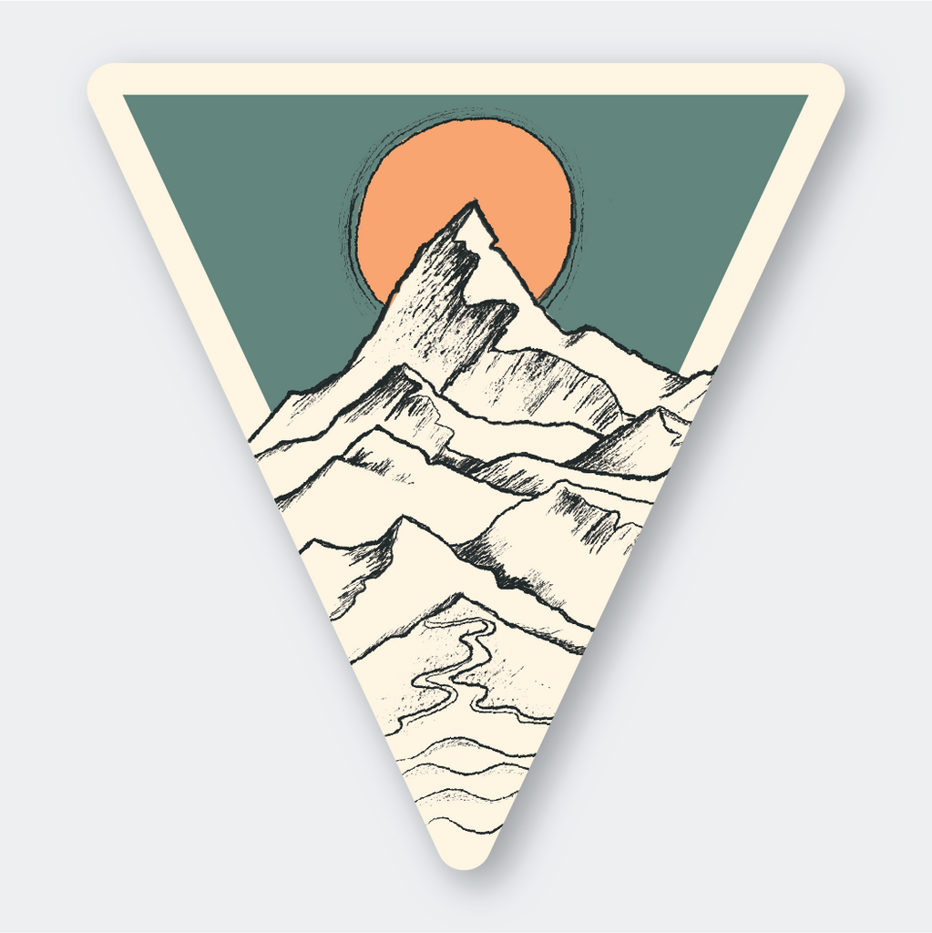 Pike Street Press - Tri Mountain Sketch Sticker