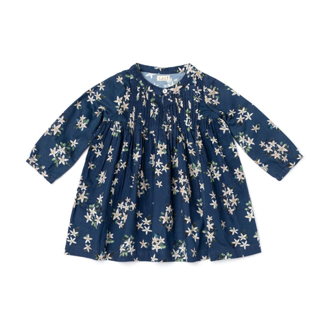 Lali Kids - Charlotte Dress - Navy Jasmine