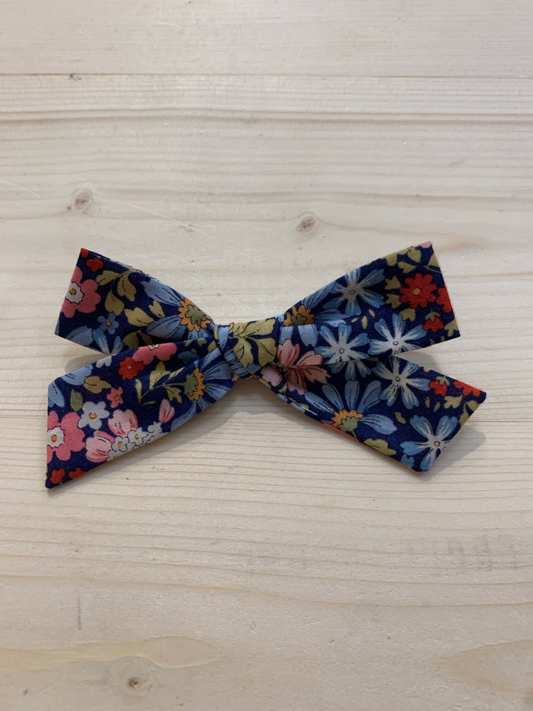 Handmade Bow - School Girl - Willow Floral - Liberty of London