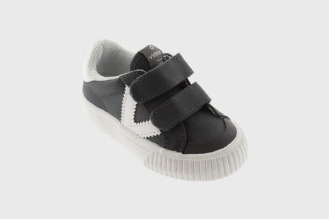 Victoria Shoes - Classic Nylon Velcro Sneakers - Antracita