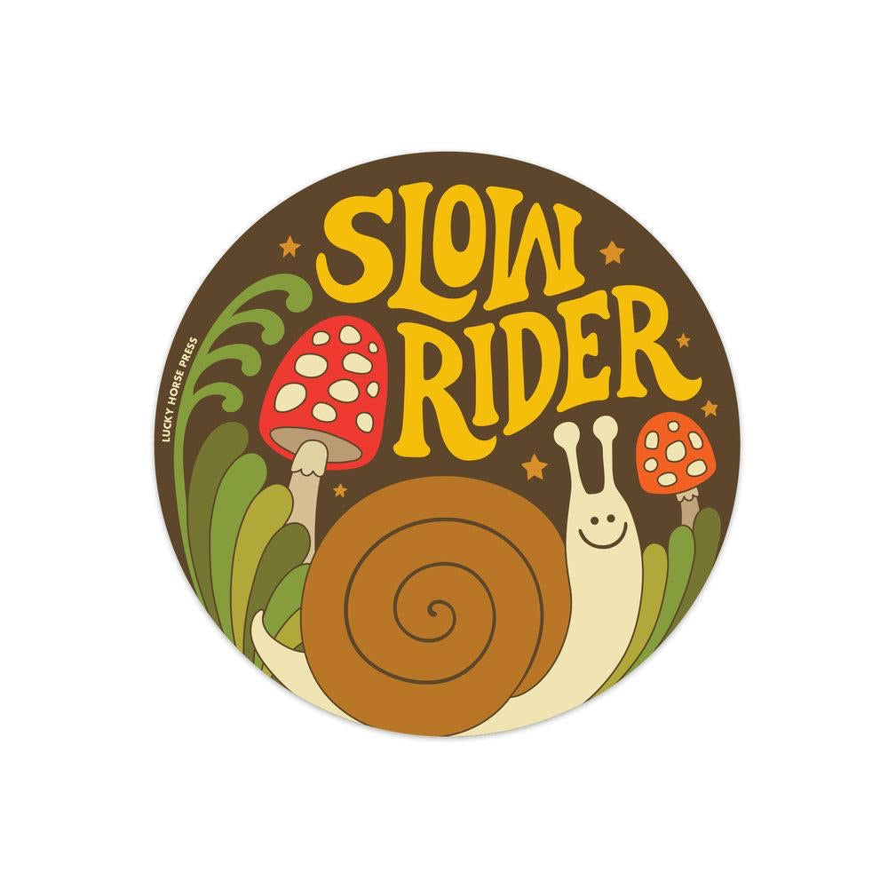 Lucky Horse Press - Slow Rider Sticker