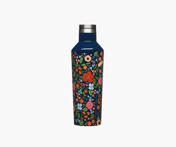 Corkcicle x Rifle Paper Co - 16 oz Canteen - Wild Rose